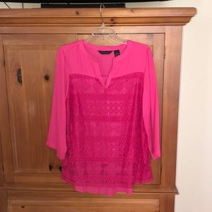 Investments fuchsia blouse